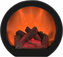 POHOVE Realistic Fireplace Lantern Battery