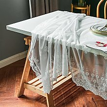 POIIUYY Tablecloth Luxury Lace Tablecloth For