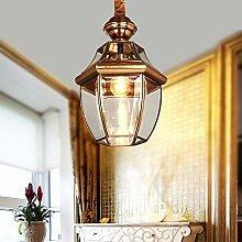 Pointhx Antique Brass Pendant Light Fixture