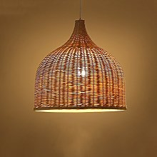 Pointhx Antique Wood Lampshade Lighting Chandelier