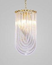 Pointhx Modern Glass Chandelier, Crystal Ceiling