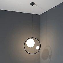 Pointhx Pendant Light Metal Ring, Nordic E27