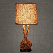 Pointhx Retro Nostalgic Hemp Rope Table Light