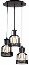 Pointhx Rustic Black Metal Cage Shade Living Room