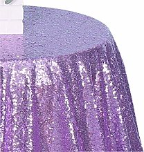 Poise3EHome 50-Inch Round Sequin Tablecloth for