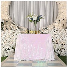 Poise3EHome 50x50 Square Sequin Tablecloth for
