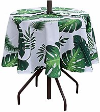 Poise3EHome Outdoor Tablecloth Round with Umbrella