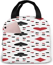 Poker Cards 18 Portable Insulated Lunch Bag,