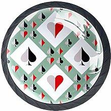 Poker Chips Solid Kitchen Cabinet Knobs Round
