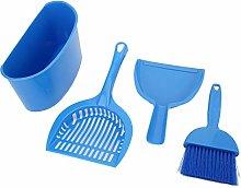 Pokerty9 Pet Toilet Cleaning Kit, Blue Cat Litter