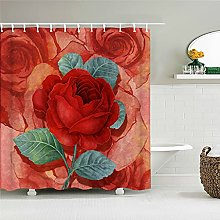 POKUJ Shower curtainrurality fresh flowers wall