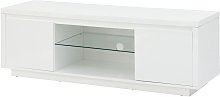 Polar 2 Door Large TV Unit - White Gloss