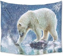 Polar Bear Animal Tapestry Wall Hanging Coverlet
