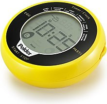 Polder Digital Egg & Pasta Timer, Yellow, 3 x 3 x
