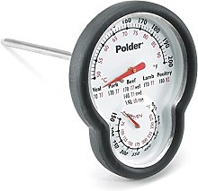 Polder Dual Sensor in-Oven Thermometer, Black
