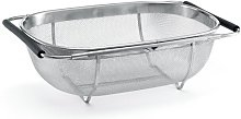 Polder Expandable Sink Strainer, Silver