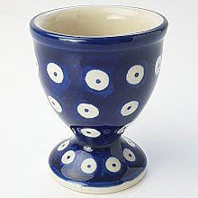 Polish Pottery Egg Cup - Blue Eyes