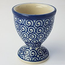 Polish Pottery Egg Cup - Doodle