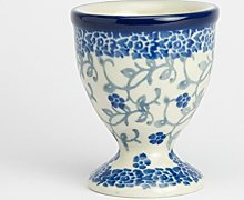 Polish Pottery Egg Cup - Forget-me-no