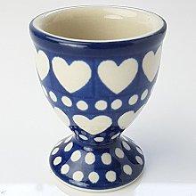 Polish Pottery Egg Cup - Heart to Hear