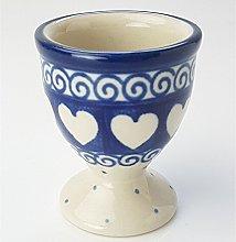 Polish Pottery Egg Cup - Light Hearted