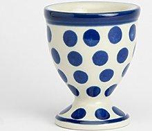 Polish Pottery Egg Cup - Small Blue Do