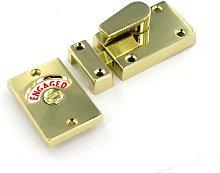 Polished Brass Bathroom Door Indicator WC Bolt Lock