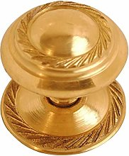 Polished Brass Lacquered Georgian Cupboard Knob