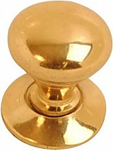 Polished Brass Lacquered Victorian Cupboard Knob