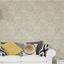 Polished Concrete Geometric 10m x 52cm Wallpaper