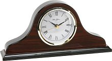 Polished Wooden Napoleon Shaped Mantel Clock