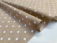 Polka Dot Fabric White Spots Dots Polycotton