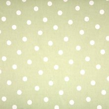 Polka Dot sage PVC tablecloth 220 cm x 132 cm