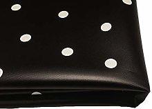 Polka Dot Waterproof Fabric by The Metre Wipe
