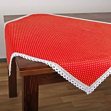 Polka Table Topper Delindo Lifestyle Colour: Red