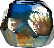 pols potten Graphic Luster Candle Holder, Blue