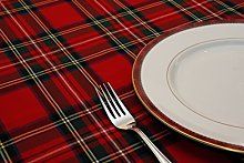 Poly/Cotton Royal Stewart Tartan Tablecloth 147cm