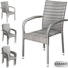 Poly Rattan 4 Pieces Set Chairs Comfortable