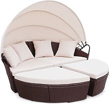 Poly Rattan Furniture Day Bed Bali Outdoor Patio
