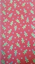Polycotton Fabric - Gingerbread Men & Snowflakes