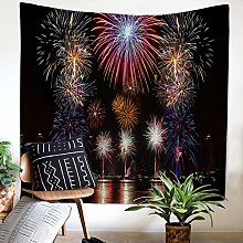 Polyester Fabric Home Decor Night Fireworks