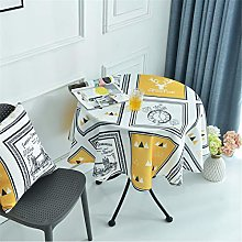Polyester Home Hotel Round Table Cloth, Lattice
