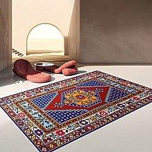 Polyester Retro Ethnic Printed Carpet Non-Slip