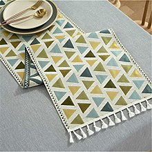 Polyester Table Runner, Triangle, Color Printing