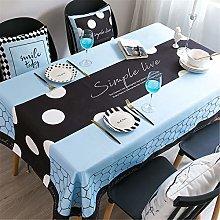 Polyester Waterproof Household Rectangular Table