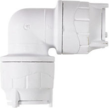 PolyFit 15mm White Spigot Elbow Plumbing Fitting -