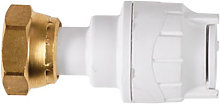 PolyFit 15mm x 1/2' White Straight Tap