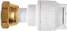 PolyFit 15mm x 3/4' White Straight Tap