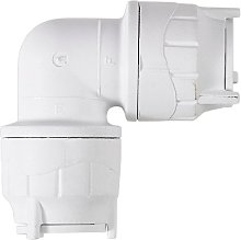 Polyfit Push Fit Elbow 15mm - White (Pack of 5)