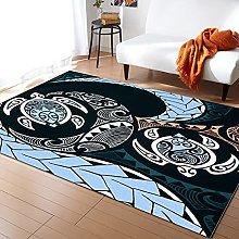 Polynesian Texture Carpet for Bedroom Household